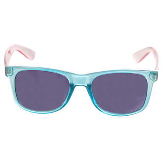 View Item Blue and Pink Transparent Wayfarer Sunglasses